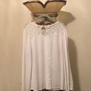 Cato white lace shirt